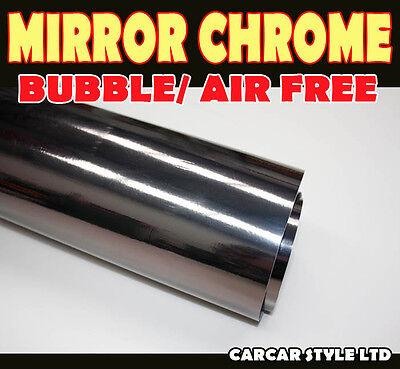 Mirror Chrome【BLACK 750MM X 2000MM 】Wrap Vinyl【BUBBLE FREE】Vehicle Sticker