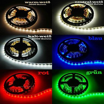 LED SMD Streifen Band Lichtband Lichterkette Leiste flexibel flex 3528 60 LED/m