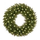 Dunhill Fir Wreath with 50 Clear Lights - 24 inch