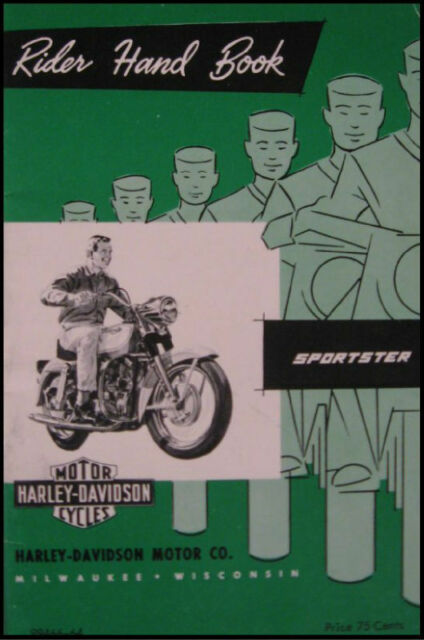 1964 Harley Davidson Sportster CH Owner's Owners Manual Rider's Handbook  64