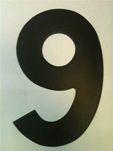 """11"""" Standard Style Race Number No.9 in Black Sold Each"""
