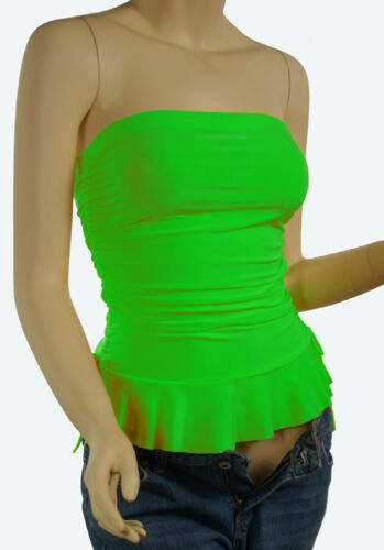 Cute Strapless Summer Party Going Out Shirt Women Strectable Tube Top Size S M L