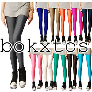 Hot-Neon-shiny-Bright-Fluorescent-Glow-Stretch-Tights-Leggings-20-Candy-colors