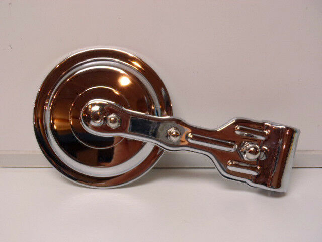 *Ford Model T Round Outside Rear View Mirror - Chrome Plated Over Brass