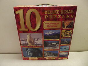 10 DELUXE JIGSAW PUZZLES NISB 6750 PIECES STATUE LIBERTY CASTLE GERMANY CANADA +