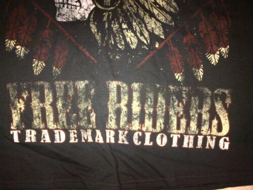 Vintage style black short sleeve bikers T Shirt Indian image Bikers T shirt S-XL