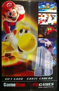 Super Mario EB Games / Gamestop collectible Gift Card (no ...