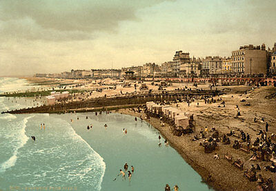"""PS10 Vintage 1890's Photochrom Photo From The Pier Brighton - Print A3 17""""x12"""""""