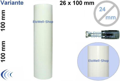 Bougies Douille de e14 lisse 26x100 blanc//ivoire en couleur Version Douille de Lampes Housse