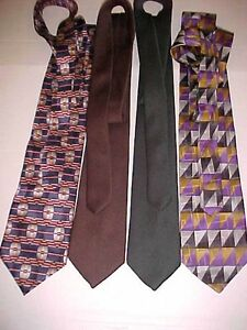 eaf45467d78 100% Silk Ties Abstract Solids Silk Tie Lot 4 Pierre Balmain Paris ...