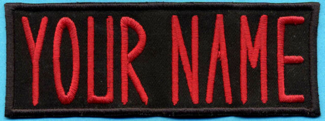 Custom Ghostbusters Name Tag  Patch with Velcro backing  -