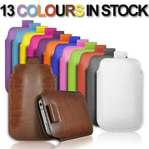 NEW-PULL-TAB-PU-LEATHER-POUCH-COVER-CASE-only-fits-ZTE-Blade-V6