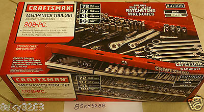 Craftsman 309 pc Mechanics Tool Set #41309 Ratcheting Combination Wrenches