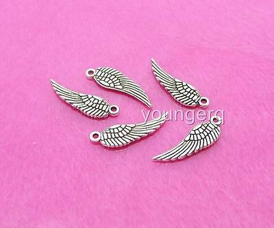 1000 pcs Tibetan Silver Angel Wing Charm Pendant 12mm