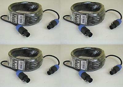 4x 10m Lautsprecherkabel 2 x 1,5 mm² Speakon kompatibel Boxen-Kabel Speakerkabel