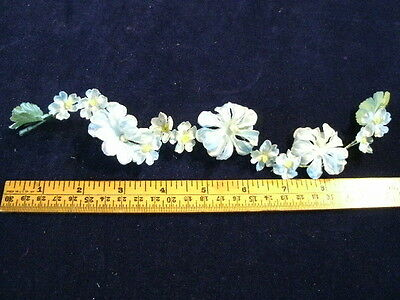 "Vintage Millinery Flower 10"" Blue Strand PetitePosy G71"