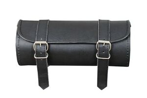 Leather-Motorcycle-motorbike-tool-roll-saddle-bag-universal-fit-tool-roll