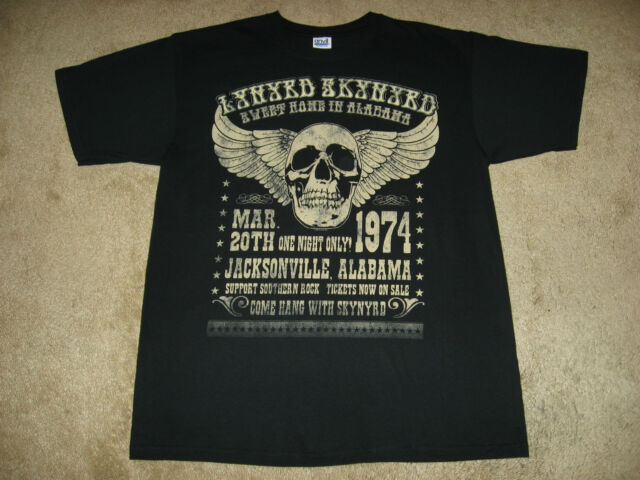 Lynyrd Skynyrd Alabama 74 S, M, L, XL, 2XL Black T-Shirt