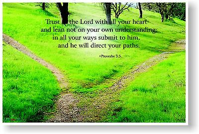 NEW Bible POSTER - Trust in the Lord with all your heart ... Proverbs 3:5
