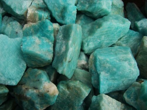 3000 Carat Lots of Unsearched Natural Amazonite Rough - Plus a FREE Faceted Gem