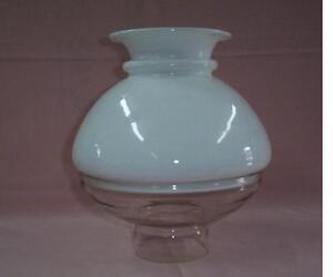 Very Rare Antique Ives Lamp Shade 2 Piece Kerosene Oil