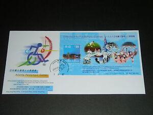 HONG-KONG-1997-Atlanta-Paralympic-Games-Defintive-No-12-S-S-Official-Cover-VF