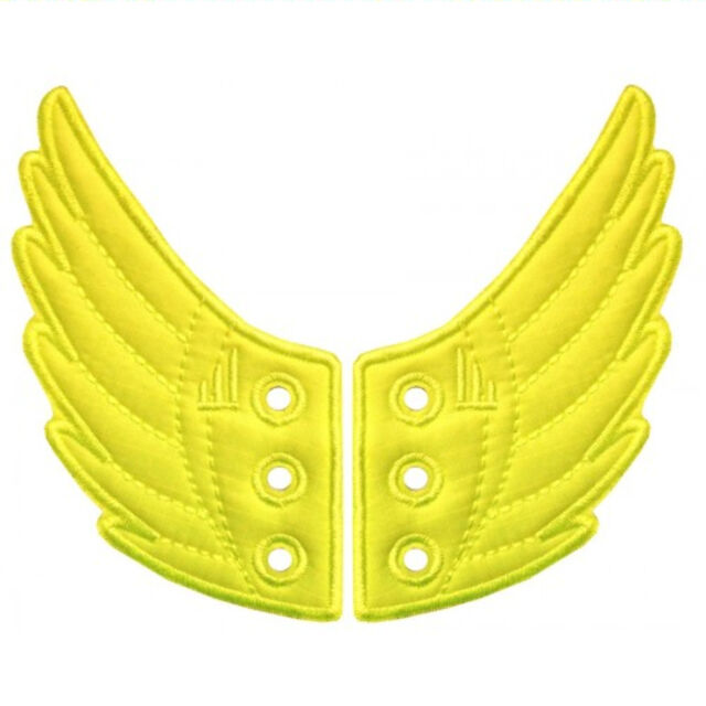 SHWINGS NEON YELLOW wings for your shoes official designer Shwings NEW 10209