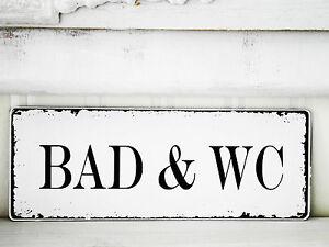 schild t rschild vintage bad wc nostalgie landhaus shabby antik holz ebay. Black Bedroom Furniture Sets. Home Design Ideas