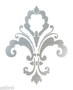 Decorative Wall Stencils fleur de lis designer decorative wall stencil chic decor damask