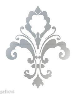 Fleur De Lis Designer Decorative Wall Stencil Chic Decor