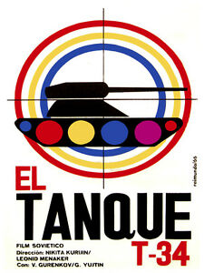 El-TAnque-T-34-vintage-Movie-POSTER-Graphic-Design-Wall-Art-Decoration-3692