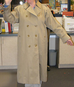 b3ffa6997be8 Burberry London Sz 10 Petite Brown Trench Coat   Zip Out Wool ...