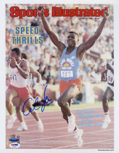 Carl-Lewis-SIGNED-Sports-Illustrated-Print-Olympic-Gold-PSA-DNA-AUTOGRAPHED