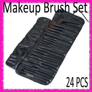 24-PCS-Professional-Makeup-Cosmetic-Brush-Brushes-Roll-Up-Case-Bag-Set-Kit-Black