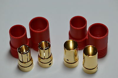 Super Duty Turnigy / HXT 8MM Bullet Connector Plug & Housing Set for Lipo ESC