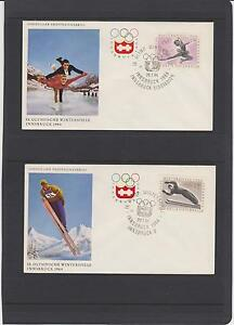 1964-AUSTRIA-WINTER-OLYMPICS-SET-OF-7-UNADDRESSED-FIRST-DAY-COVERS-LQQK