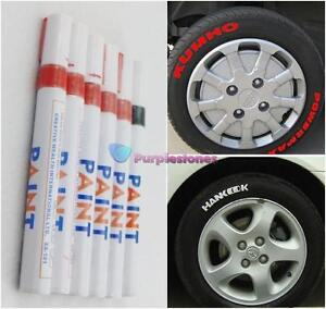 lot  car motorcycle tyre tire tread marker paint   red black ebay