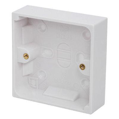 Wall Surface-Mount Pattress Electrical Socket Back Box - Single 16mm UK [#03001]