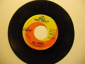 Jill-Harris-His-Kiss-You-Really-Didn-039-t-Mean-It-45-RPM-Capitol-Records