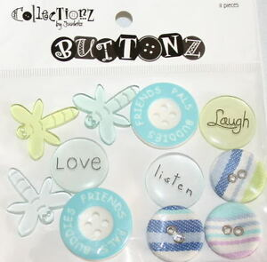 Junkitz-FRIENDS-Buttonz-Buttons-Scrapbooking-11-Pcs
