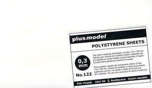 Plus-Model-Plastik-Platten-0-3-mm-0-3mm-110-190mm-2-Stueck-NEU-OVP-Tipp