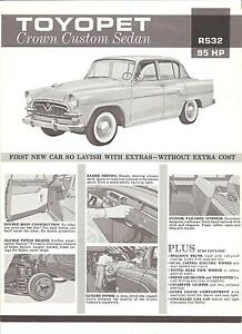 Toyota Single Sheet Toyopet Crown Custom Sedan Circa Ebay