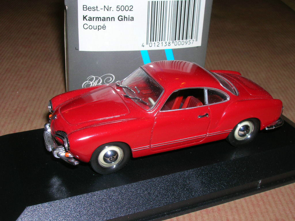 VOLKSWAGEN KARMAN GHIA COUPE 1955   1974  Minichamps 1 43 rouge