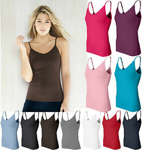 Bella Ladies S M L XL 2XL Spandex Camisole Yoga Tank Top Shelf Bra ...