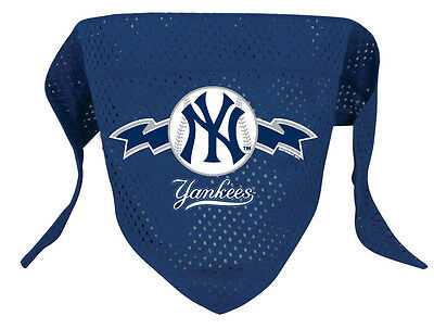 NEW NEW YORK YANKEES PET DOG BASEBALL JERSEY BANDANA ALL SIZES LICENSED