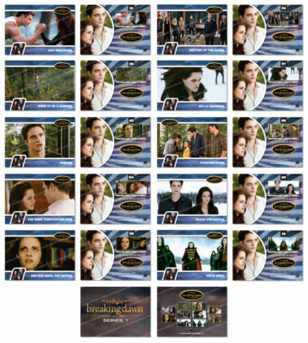 Twilight Breaking Dawn Part 2 SERIES 1 Trading Card Set ~ Rare ~ New