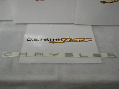 '98-'02 CHRYSLER  NAMEPLATE EMBLEM CHROME MOPAR OEM 4805060 NEW