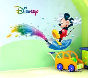 Image is loading Disney-Bright-Mickey-Mouse-Wall-Decor-Vinyl-Sticker-