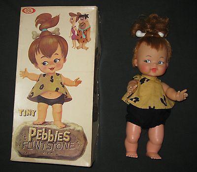 FLINTSTONES PEBBLES Doll (1960's)  -  With Box