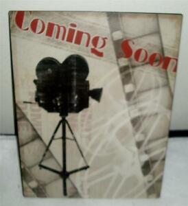 Movie Themed Metal Wall Sign Coming Soon Camera , Movie ...